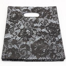 Heißer Verkauf! Schmuckbeutel .200pcs 20x25cm schwarze Spitze Plastiktaschen Schmuck Geschenkbeutel. von Fabrikanten