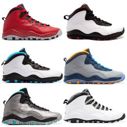 Wholesale Medium Powder - New 10 10s men basketball shoes Steel Grey white black Powder Blue Lady Liberty Chicago GS Fusion Red Bobcats outdoor sneakers us 8-13