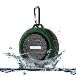 hook audio Coupons - C6 Speaker Bluetooth Speaker Wireless Potable Audio Player Waterproof Speaker Hook And Suction Cup Stereo Music Player With Retail Package