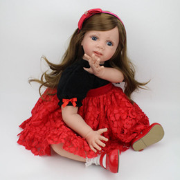 Wholesale Baby Collection Dolls - Realistic Baby Doll Sweet Princess Doll 24 inch Lifelike Girls Christmas Gift Doll Cute Soft Reborn Bebe Toddler Collection Dolls
