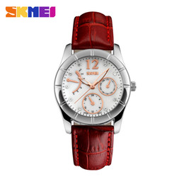 Wholesale Fine Leather Belts - Women Watch Fashion Retro Small Round Dial Color Belt Chain All-match Installed Fine Lady Students Watch