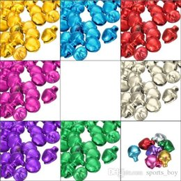 Wholesale Handmade Iron Ornaments - Hot Sale 100Pcs lot Colorful Iron Loose Beads Small Jingle Bells Christmas Decoration Pendants DIY Crafts Handmade Accessories