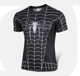Wholesale Girly T Shirt - s-4xl High quality new 2016 Men superhero Batman Jersey shirt sports quick dry fitness compression drying T shirt 3D girly men