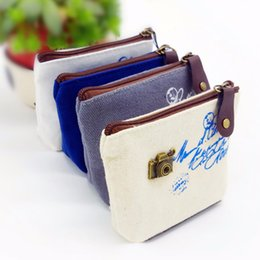 Wholesale Cartoon Camera Bag - Wholesale- Bicycle Boat Print Coin Purse Tower Camera Mini Kids Cartoon Pouch Women Coin Zip Wallets Canvas Coins Bags