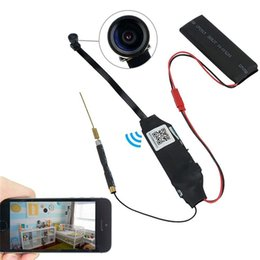 Wholesale Video Camara Dvr - Wifi IP Module Hidden Camera Mini DVR Hd 1080P Video Mini Security Camara Wireless P2P Video Recorder Nanny Cam Support App 140° Remote View