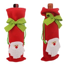 Wholesale Wholesale Cloth Boxes - 2016 New arrival Santa Claus wine bottle packingbag, Unique design Christmas supplies, Tree gift box deer wine bottle cover