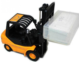 Wholesale Toy Forklift Remote - Mini RC Toy Forklift Radio Remote Control Truck Car RC Forklift Radio Remote Control Controlled Truck Car Lifting Arm RC Crane Toy