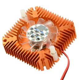 Wholesale Cooling Fan 55mm - Wholesale- 55mm 2 PIN Graphics Cards Cooling Fan Aluminum Gold Heatsink Cooler Fit For Personal Computer Components Fans Cooler VC899 P10