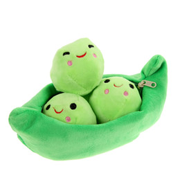 Wholesale Gift Toy For Girlfriend - Wholesale- 1 pcs 25CM Kids Baby Plush Toys For Children Cute Pea Stuffed Plant Doll Girlfriend Gift High Quality Stuffed & Plush Plant