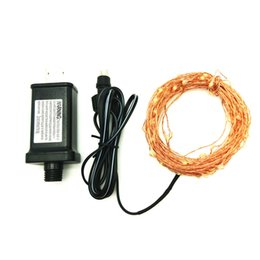 Wholesale Copper List - Wholesale- LED String Lights DC5V 10m 100led Copper Wire Flexible Fairy Lights Waterproof Outdoor String With UL Listed 5V Power Adapter