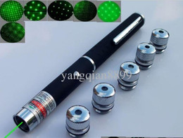 Wholesale Low Priced Laser Pointers - High quality -The lowest price 5mw (5 in 1) green lasers pointer pen with star head   laser kaleidoscope light + free shipping