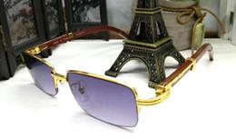 Wholesale Cheap Branded Sunglasses - brand sunglasses for mens buffalo horn glasses vintage retro wood sunglasses cheap designer half frame glasses frame clear lenses eyeglasses