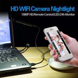 Wholesale Remote Access Cctv - HD 1080P WIFI Camera with Lighting Function Motion-activated Desk Lamp CCTV Surveillance Cam Nanny Home Security Cam for iPhone Android PC