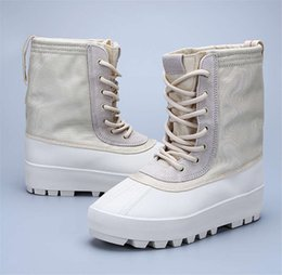 Wholesale Cow Full Grain Leather Shoes - Cheap Kanye West Boost 950 boots Season-2 Men Boot High-Cut Women Fashion Shoes Sneakers 100% Leather with Boxes Size 36-46 Casual 750 boost