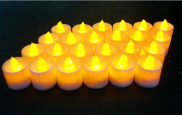2019 kaktus kerzen großhandel 24pcs / Lot romantische Farbe LED elektronische flammenlose Kerze Lampe MFBS Tradebuck Versicherung Hochzeit Partei Kerze beste Geschenk versandkostenfrei