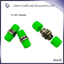 Wholesale Optical Fiber Plug - Free Shipping and RoHS Compliant 50PCS FC APC Small D Optical Fiber Flange Coupler