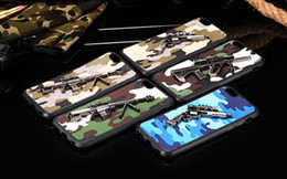 Wholesale Wholesale Gun Cases - Fashion Fighter Metal Pistol Gun Camouflage Pattern Case For iPhone 5s 6 6S 4.7 6 Plus 5.5 6S Plus Soft Cool Rubber Cover