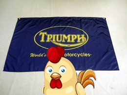 Wholesale Flags Banner Green - Triumph Motorcycles Flag 3x 5ft Polyester,90X150 CM,flag king,green Triumph banner 100% polyester