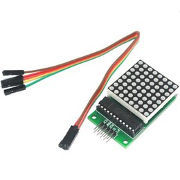 Wholesale Dupont Cable For Arduino - Wholesale-Smart Electronics MAX7219 LED Display Control 8 Digit Dot Matrix Module for Arduino Diy Starter Kit MAX 7219 with Dupont Cable