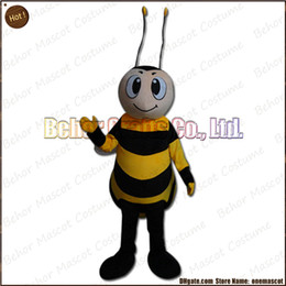 Wholesale Make Bee Costume - Small bee mascot costume EMS free shipping, cheap high quality carnival party Fancy plush walking bee mascot cartoon adult size.