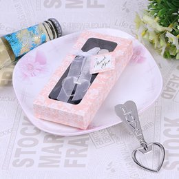 Wholesale Love Heart Corkscrew Bottle - Love Heart Style Bottle Opener Beer Wine Soda Glass Cap Opener Corkscrew Bridal Shower Party Wedding Favors Nice Gifts DHL Free Shipping