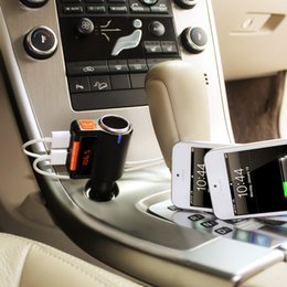 Wholesale Usb Radio Transmitter Car - Car MP3 Audio Player Bluetooth FM Transmitter Wireless FM Modulator Car Kit car usb player double USB Charger BC09