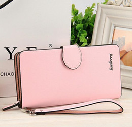 Wholesale Korean Fashion Brand Pu - Designer Wallets Famous Brand Women Wallet 2016 Fashion Women's Long Luxury PU Leather Baellerry HASP Solid Handbag Lady Clutch Purses