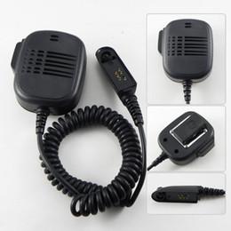 Wholesale Pro Walkie Talkie - 10pcs Pro Shoulder Speaker Mic for Motorola Radio GP340 GP380 Walkie talkie two way CB Ham Radio C508 Fshow