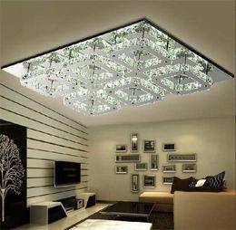 Wholesale Lustres Pendentes Led - AC 110-240V Modern 72W LED Crystal Ceiling Light Fixture 6 lights lamps lamparas de pie lustres e pendentes sala dining room living room