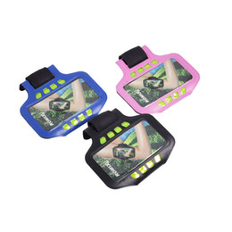 """Wholesale universal sports lighting - ROMOIX RH03 Sport Armband Wristband LED light Card Pocket Case Cover For 4.7""""&5.5"""" For Iphone Universal Cellphone jogging PU material"""