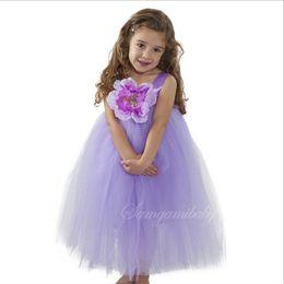 Wholesale Girls Rainbow Chiffon Dress - 5 Color Girl flower bowknot lace Sling dresses Dress NEW children princess party Rainbow colors sleeveless tutu Dress skirt B