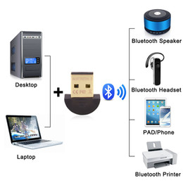 Wholesale Network Dongle - Usb CSR bluetooth 4.0 adapter micro mini USB 2.0 wireless audio dongle bluetooth receiver adapter for Laptop iPhone Headset networking