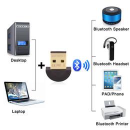 Wholesale Bluetooth Receiver Laptop - Usb CSR bluetooth 4.0 adapter micro mini USB 2.0 wireless audio dongle bluetooth receiver adapter for Laptop iPhone Headset networking