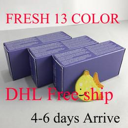 Wholesale Box Set Wholesale - Get 10pc free Real 13 color fresh colorblend DHL arrive 4-6 days 3 Tone contact lenses box 100pc =50pair Contact lens case