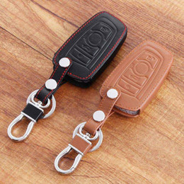 Wholesale Bmw Series E87 - Leather With Buckle Car Styling Key Cover For BMW X1 X3 X4 X5 X6 1 2 3 5 6 7-Series E87 F20 E90 E92 E93 F30 F35 F34 F31 3GT 5GT