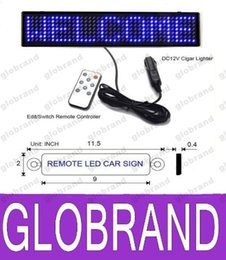 Wholesale Led Programmable Signs Wholesale - Scrolling LED car display English remote control LED car sign Board LED Programmable Message Sign FREE SHIPPING GLO610