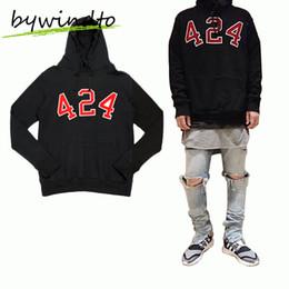 2019 yeezus hoodie Wholesale-Yeezus  Clothing Hoodie Oversized Sport Sweatshirts Cotton 424 Hooded Hoodies Men Hip Hop Kanye West Streetwear скидка yeezus hoodie