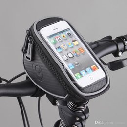 "Wholesale Seat For Mountain Bike - H0090 Roswheel Waterproof Mountain Road MTB Bike Bicycle Front Top Frame Handlebar Bag Cycling Pouch for 5"" inch Cellphone Phone"