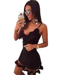 Wholesale Tight Corset Dresses - Punk rave Fashion Goth Summer Sexy Black Tight Stretchy Corset Women Mini Dress 5529