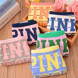 rosa schlüpfer Rabatt Cotton Sexy Frauen Panties Soft Lovely Pink Letter Girl Briefs Unterwäsche Week Days Panties für Frauen