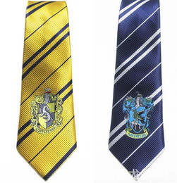 Wholesale Books House - Harry Potter style house badge ties school fancy dress Cosplay film peplica Book Day silk Necktie 4colors party Chiristmas festive supplies