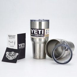 Wholesale Christmas Gift Cups - YETI Cups Cooler 304 Stainless Steel Rambler Tumbler Cup Car Beer Mugs Vacuum Insulated Mug 12oz 20oz 30oz Christmas gift
