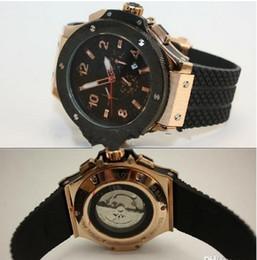 Wholesale Automatic Big Date - luxury big bang brand new! Luxury men's steel mechanical sports style F1 racing watch, black   silver style, fashion jason007