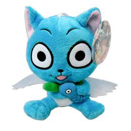"Wholesale Japanese Cartoon Plush Toys - Hot Japanese Anime Cartoon Fairy Tail Happy 6"" 15cm Plush Toy Stuffed Animals Plus Toy Gifts sko"