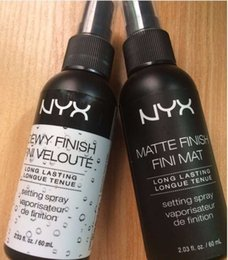 Wholesale Nail Finished - EPACK STOCK New Arrival NYX MAKEUP SETTING SPRAY Matte Finish & Dewy Finish Long lasting Setting Spray 60ML Face Beauty
