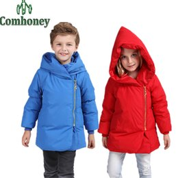 Wholesale Snow Suits For Kids - Kids Winter Coat Boys Russian Winter Down Jacket for Girls Ski Suit Children Hooded Outerwear Infant Girls Parka Snow Clothes