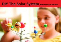 Wholesale Project Systems - GOOD TOY DIY The Solar System Nine planets Planetarium Model Kit Science Astronomy Project Early Education For Children Wiith Retail Box