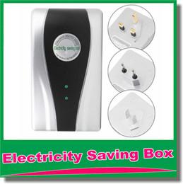 Wholesale Electric Power Energy Saver - Electricity Saving Box Energy Saver Energy Saving Power Electric Device For LED Light Home Family Use US EU AU Plug 90V-250V OM-CG7