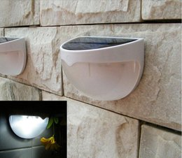 Wholesale Stairs Cover - Super bright 6 LEDs Sensor Solar Powered Light Outdoor Lamp LED Wall Light Garden Lamp ABS+PC Cover Color Package Home Stair Waterproof ligh