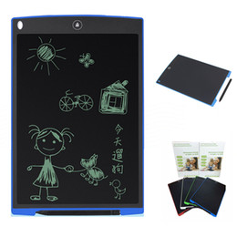 Wholesale Wholesale Writing Pad Pens - 12 inch LCD Writing Tablet Drawing Board Blackboard Handwriting Pads Gift for Kids Paperless Notepad Whiteboard Memo With Upgraded Pen 2017